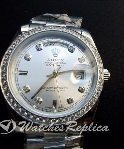 Rolex Day-date 118346 36mm Stainless 950 Platinum With Diamonds For Men Watch