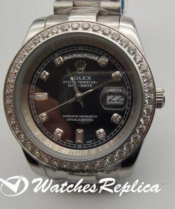 Rolex Day-Date 228349rbr Rose Gold Bracelet Black Dial For Men 40mm Watch
