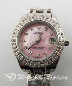 Rolex Datejust 116244 316 Grade Stainless Steel Pink Dial 36mm For Women Watch