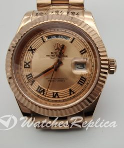 Rolex Day-date 218235 41mm Rose Gold And Rose Dial For Men Watch