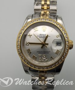 Rolex Datejust 178383 Gold Plated 316 Grade Stainless Steel 31mm For Women Watch
