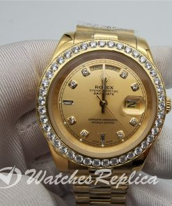 Rolex Day-Date 128348rbr 36mm 18ct Yellow Gold With Diamonds For Men Watch