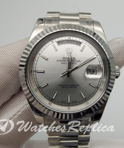 Rolex Day-date 218239 41mm White Gold And Silver Dial For Men Watch