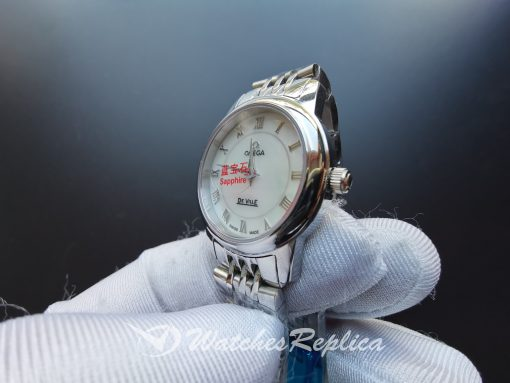 Omega De Ville 4570.33.00 22 Mm Stainless Steel And Silver-tone For Women Watch