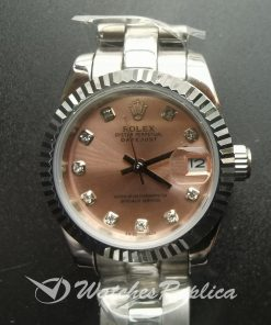 Rolex Datejust 178271 Stainless Steel Oyster Pink 31 Mm For Women Watch