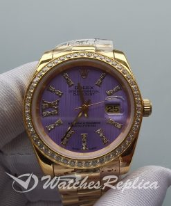 Rolex Datejust 278384 31 Mm Stainless steel 18k Yellow Gold Purple For Women Watch