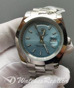 Rolex Day-date 228206 40mm Platinum Case Ice Blue Dial For Men Watch