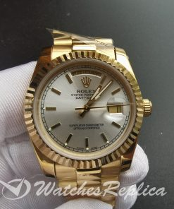Rolex Day-date 18238 Oyster Yellow Gold And White Dial 36mm For Men Watch