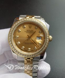 Rolex Datejust 26283rbr 36mm Stainless Steel And Champagne Dial For Women Watch