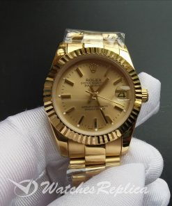 Rolex Datejust 68278 Gold Dial And Yellow Gold Case And 31mm For Women Watch