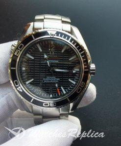 Omega Seamaster 42mm Case Black Dial Stainless Steel Bracelet For Men Watch