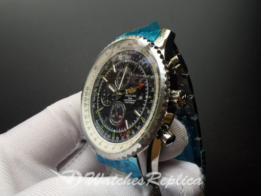 Breitling Navitimer 46mm Steel Case And Black Dial For Men Watch