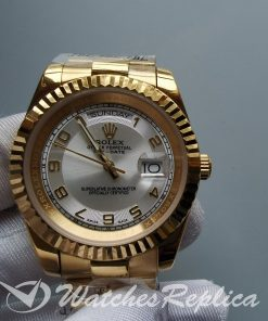 Rolex Day-date Yellow Gold Ivory / Cream 41mm For Women Watch