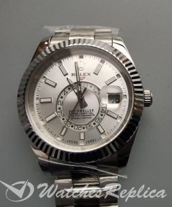 Rolex Sky-dweller 326934 904l Stainless Steel And White Dial 42mm For Men Watch