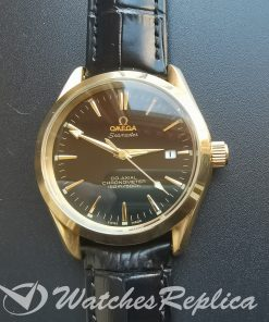 Omega Aqua Tera 35mm Yellow Gold And Brown Dial For Women Watch