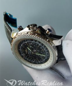 Breitling Bentley 49mm Stainless Steel And Leather For Men Watch