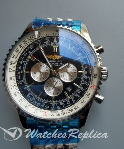 Breitling Navitimer Black Dial And Stainless Steel 46mm For Men Watch