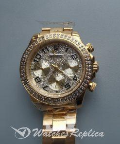 Rolex Daytona Rdt028 Diamond Dial 18k Yellow 35 Mm For Women Watch