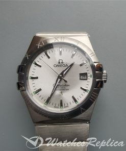 Omega Constellation 123.10.38.21.02.001 38mm Silver And 316 Grade Stainless Steel For Men Watch