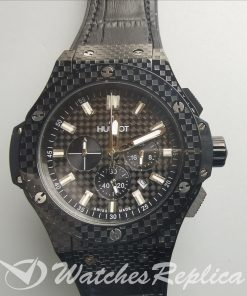 Hublot Big Bang 301.Qx.1740.Gr Black Dial Carbon-fiber Case And For Men Watch